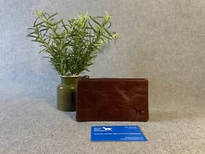 Leather Tobacco Pouch PC6 *NEW LEATHER* Pencil Case Buffalo Purse YKK Zip