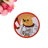 Embroidery Space Astronaut Sloth Patch Sew Iron On Patch Bags Hat Jeans'Applique