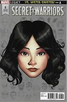 Secret Warriors Comic Issue 1 Limited Headshot Variant Modern Age First Print