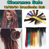 24 Ombre Dreadlocks Synthetic Hair Extensions Crochet Braided Single End Dreads