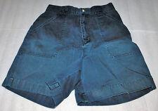 Eddie Bauer Shorts Womens Dark Blue Flat Front Large Pockets Cotton 12 Adult