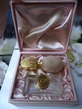 DIOR DIORISSIMO VINTAGE 1950s EMPTY BACCARAT PARFUM BOTTLE & ATOMISER MARKED BOX