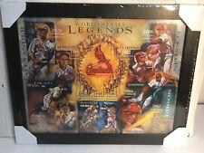 ST LOUIS CARDINALS WORLD SERIES LEGENDS Framed Print Litho SGA Season Tix
