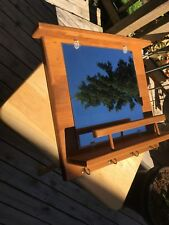 Vintage Colonial Style Wall Mirror Caddie Knotty Pine Construction. Nice.