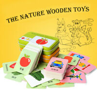 Baby Learning English Match Puzzle Montessori Cognitive Card Educational Toy