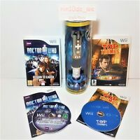 DR WHO [Wii] BUNDLE -RETURN TO EARTH+TOP TRUMPS GAMES+SONIC SCREWDRIVER REMOTE