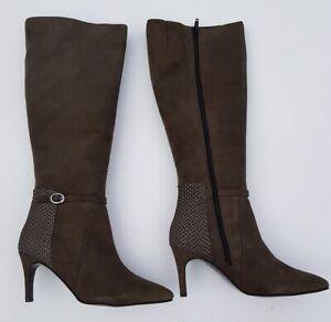 Vanilla Moon Sheridon Heel Knee Length Boot Taupe Suede Size UK6.5 EU40