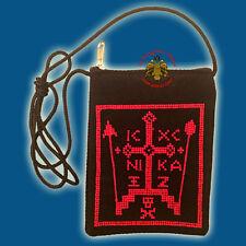 Orthodox Schema Passport Case ICXC Brustbeutel Kruzifix Berg Athos Portemonaie