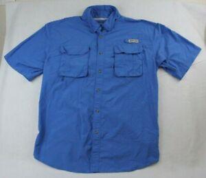 Bimini Bay Outfitters Vented Short Sleeve Shirt Extra Large Blue Hiking Fishing