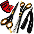 Professional Hair Cutting Scissors Barber Thinning Shears Hairdressing Salon Set