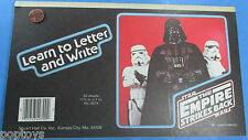 NOTEBOOK PAD '80 vtg  DARTH VADER STORM TROOPERS  Letter & Write - Star Wars