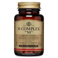 Solgar B-Complex Vegetable Capsules 50 Caps, Clearance for exp date 09/2020