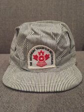 Vintage The Discovery Train Striped Conductor Hat Canadian History Canada 70's