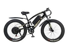 26 inch Electric Bicycle Fat Tire 1000W MTB Ebike 60V Li-ion Battery Black