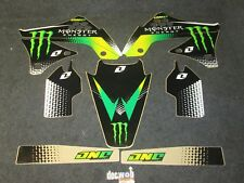 Kawasaki KXF450 2009-2011 One Industries Monster Energy graphics kit 1G81