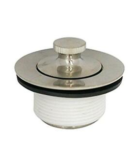 Brushed Nickel Lift and Turn Stopper Kit with Brass Busing