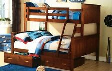 bunk ONLY Double single Solid  a/oak or white NEW IN BOX Bargain ! Limited Stock