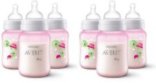 Philips Avent Anti Colic Bottle, 3 Wide Neck Bottles, 9 Oz (Pack of 2) - Pink