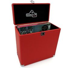 "Gorilla LP-45 Retro 12"" Vinyl Record Storage Case (Phone Box Red) Inc Warranty"