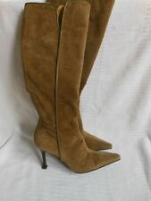 GIUSEPPE ZANOTTI Vicini Brown Suede Knee Boots 36.5 EUR/6-6.5 US Italy