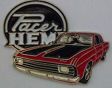 Chrysler Valiant Hemi Pacer lapel pin badge.  -- Red --  F040904
