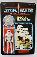 STORMTROOPER ACTION FIGURE  ON POTF CUSTOM CARD WITH  NEW COIN GREAT DISPLAY