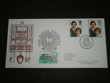 1981 Great Britain FDC Trains Cover FESTINIOG RAILWAY ROYAL WEDDING Caernarfon