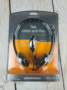 NEW!! Plantronics Audio 326 Wired PC Over-The-Head NC Headset Skype Chat Yahoo