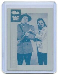 1/1 JIMMY HART THE MOUNTIE 1991 CLASSIC PRINTING PLATE WRESTLING WWE WF 1 OF 1