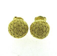 Tiffany & Co. Retro 18k Yellow Gold Estate Woven Stud Earrings