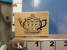 Teapot tea RUBBER STAMP  6q