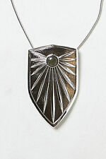 Brass Shield Pendant Necklace By Knights Of NY Anthropologie Long Statement