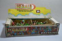 Vintage Britain Herald Store Box w/ 53 plastic soldiers 1:32 RARE Argentina