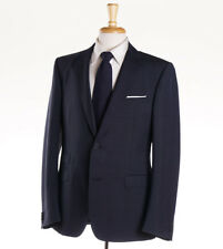 NWT $1595 Z ZEGNA Navy Blue Subtle Woven Wool-Mohair Suit Slim-Fit 42 R
