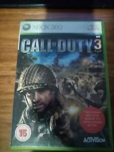 Call of Duty 3 (Microsoft Xbox 360, 2006) FREE POST