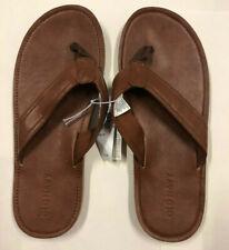 Nwt Mens Old Navy Brown Leather Thongs Sandals Flip Flops 6 - 7