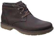 Rockport Tough Bucks Chukka Tan Mens Leather Lace-up Ankle BOOTS UK 11