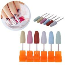 6x Silicone Nail Drill Bits Gel Removal Polishing Tool Pedicure Manicure Rotary