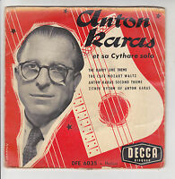 "Anton KARAS et sa CYTHARE Vinyl 45T 7"" EP THE CAFE MOZART WALTZ -DECCA 6035 RARE"