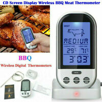 Digital Wireless Remote BBQ LCD Meat Thermometer Grill Tools Cooking 2 Probe UK