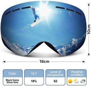 HAUEA Ski Snowboard Goggles OTG Glasses Interchangeable Dual Layers UV400