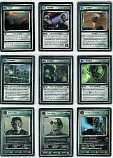 STAR TREK CCG ENHANCED FIRST CONTACT, COMPLETE SET OF 16 CARDS