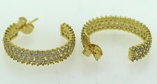 CZ Hoops- Gold Filled with 18K Pure Gold