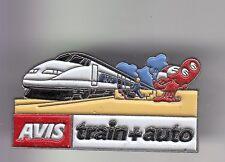 RARE PINS PIN'S .. AUTO CAR LOCATION RENTAL AVIS TRAIN TGV TRANSPORT VOITURE ~DK