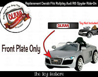 The Toy Restore Front Custom License Plate Stickers For Rollplay Audi R8 Spyder