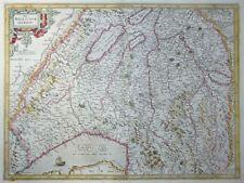 MERCATOR HONDIUS SCHWEIZ DAS WIFLISPURGERGOV WIFLISBURGER GENFER SEE THUN 1606
