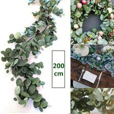 2M Greenery Eucalyptus Leaves Silk Artificial Vine Garland Wedding Decor AU