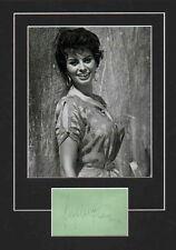 SOPHIA LOREN-ACADEMY AWARD WINNER-SIGNED ALBUM PAGE & PICTURE DISPLAY-AFTAL/UACC