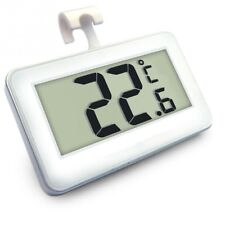 LCD Thermometer White Mini Digital for Fridge Freezer Room With Magnetic Hanging