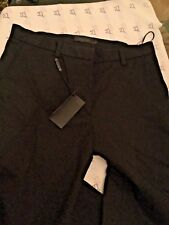 NEW Calvin Klein Collection (Made in Italy) Women's Black Trouser Pants - 6